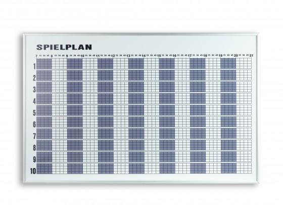 Tagesbelegungsplan für 6 Plätze