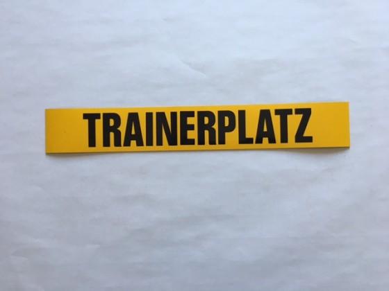 """Magnetschilder bedruckt 50 mm breit """"Trainerplatz"""""""