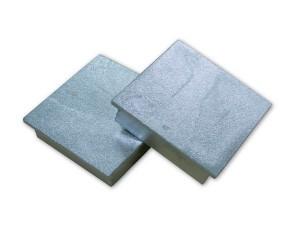 Deckel für Bodenhülsen vierkant, Paar