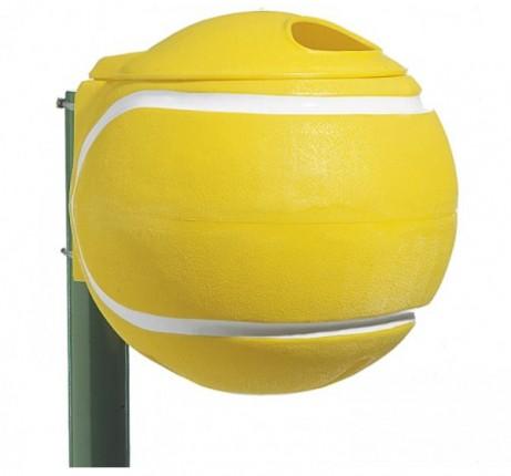 Abfallbehälter Ballform, gelb
