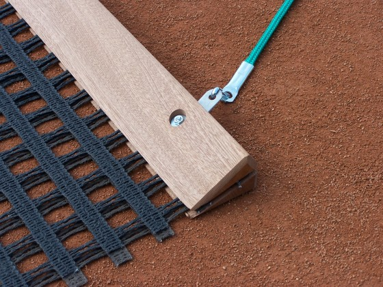 Schleppnetz, doppellagig schwer mit Holzabziehleiste