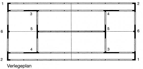 Fertige Linie, 5 cm mit Aussparungen