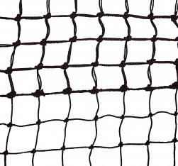 Tennisnetz Top Spin, schwarz, 2,5 mm Polyethylen, 5 Doppelreihen