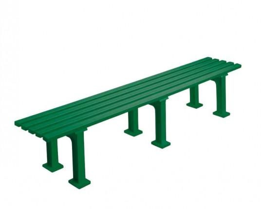 Bank ohne Lehne, 200 cm, grün