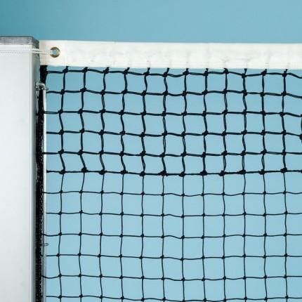 Tennisnetz Davis Cup, schwarz, 2,2 mm Polyethylen, 6 Doppelreihen